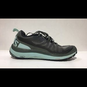 SALOMON ODYSSEY PRO Sz 6 Green Hiking Shoe